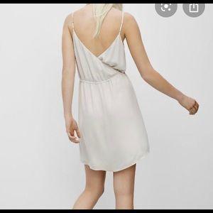 Aritzia cream dress